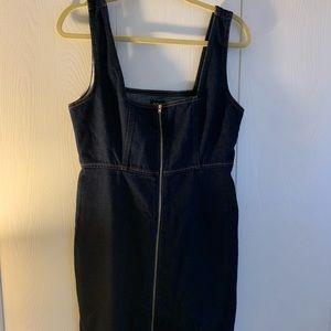 BDG Zip up denim dress